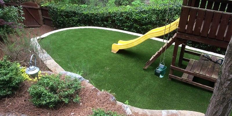 Atlanta, GA Family Backyard With DuPont™ ForeverLawn® Select HD and GolfGreens