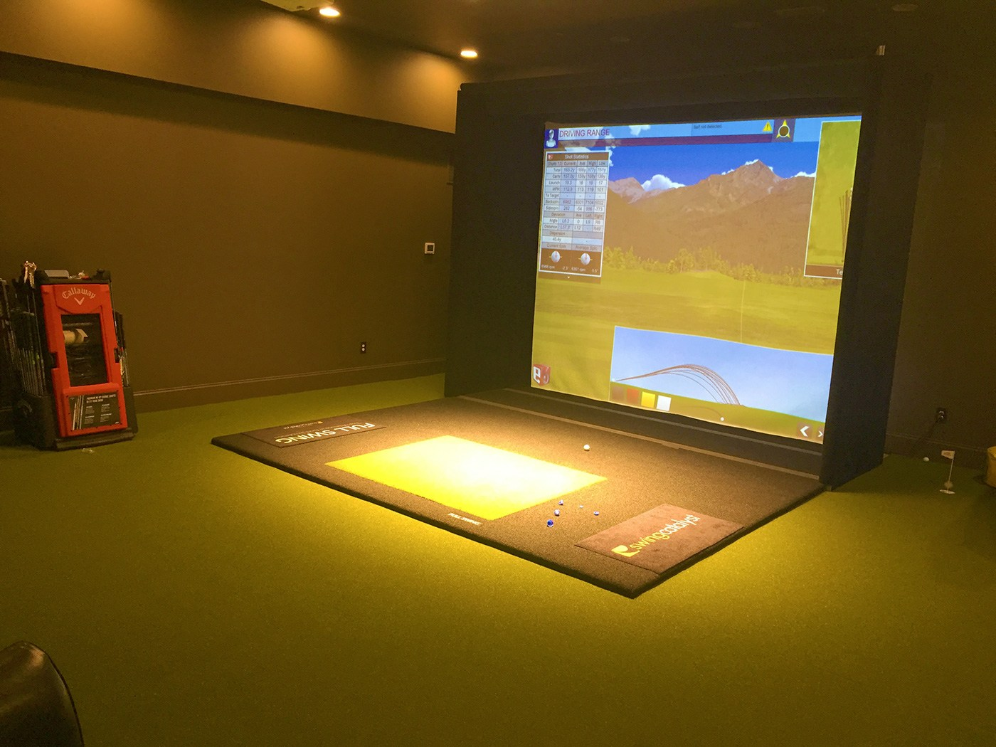 Golf Simulator at The Golf Club at Little Turtle - Indoor GolfGreens Installation