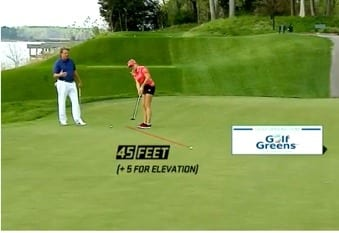 Natalie Gulbis for GolfGreens on 40-50 FOOT PUTTS