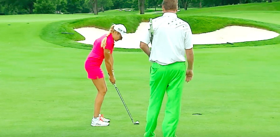Natalie Gulbis best way to hit a 50-yard shot from the fairway