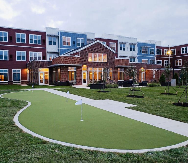 The Sheridan at Bethel Park Outdoor Space with GolfGreens